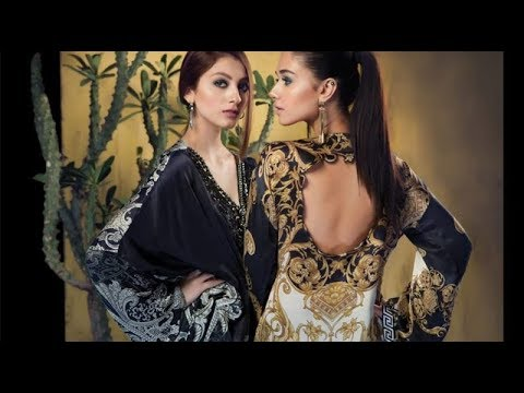 5ced178850 MARIA B Latest Winter Silk Collection 2018 - YouTube
