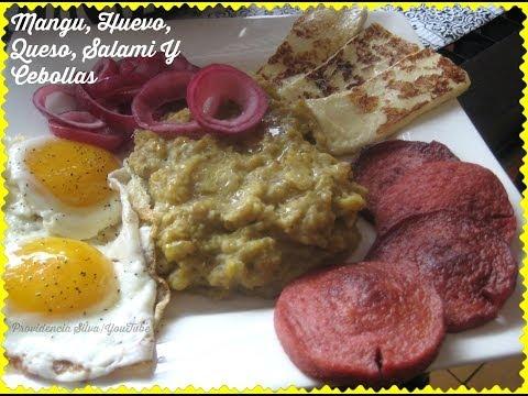 Mangu, Huevo, Queso, Salami Y Cebolla (COMPLETE TUTORIAL)