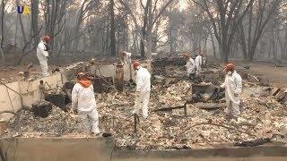 Количество жертв пожаров в Калифорнии стремительно растет