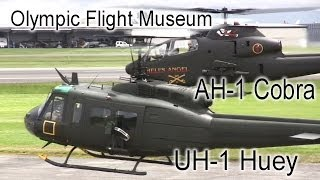 Bell AH-1 Cobra and Bell UH-1 Iroquois Demo - Olympic Flight Museum
