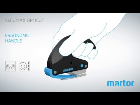 Safety knife MARTOR SECUMAX OPTICUT product video GB
