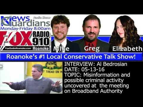 News Guardians 05/13/16 Roanoke County Broadband with Al Bedrosian