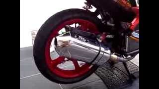 KNALPOT RACING / RACING MUFFLER SMF ( Sakura Motorsport Factory ) on Yamaha Xeon / Mio 125