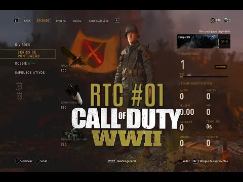 Call of Duty WW2 RTC #01- Finalmente um CoD BOM PT-BR