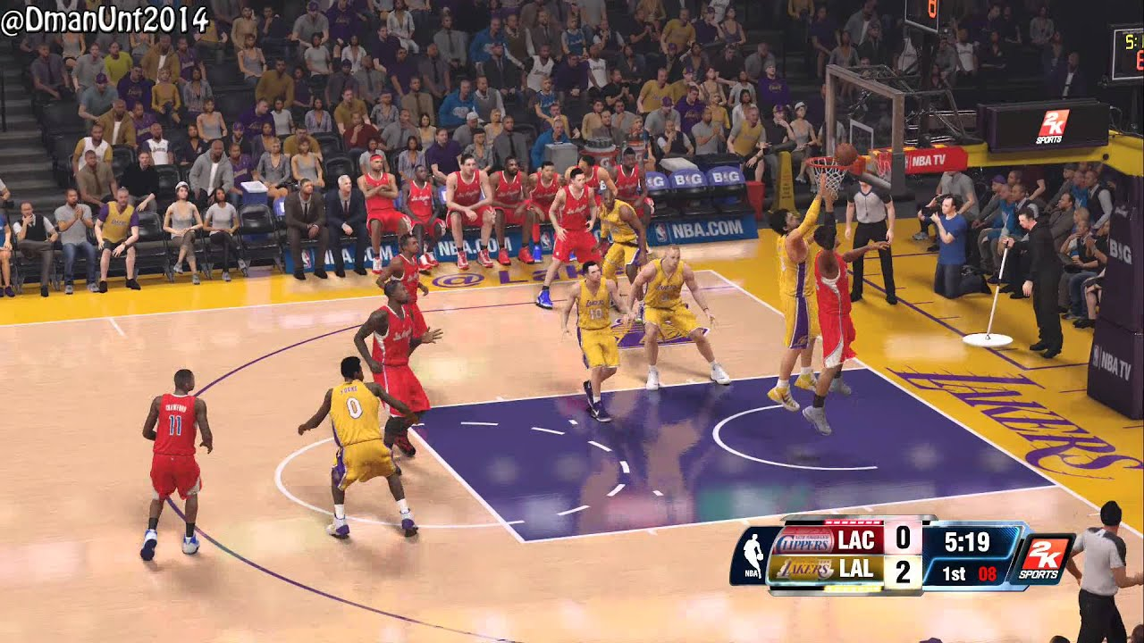 Playstation 4 NBA 2K14 HD Game Play - LA Lakers vs. LA ...