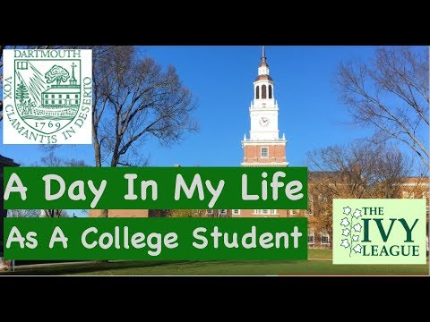 A Day as a College Student at Dartmouth College - Varsity Crew team, college food, sorority
