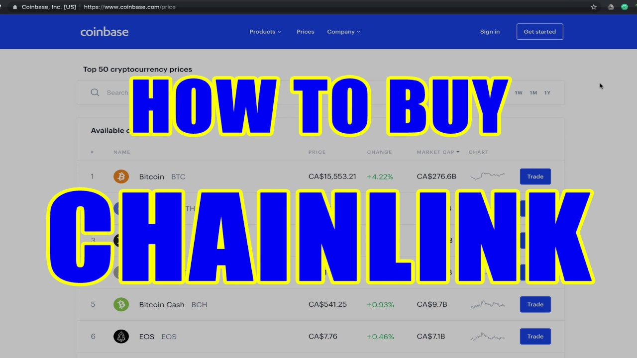 how to buy chainlink cryptocurrency on robinhood