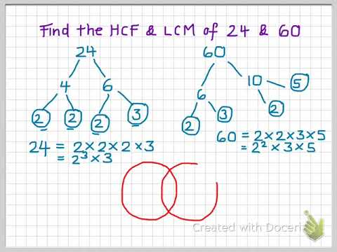 Hcf And Lcm Using Venn Diagrams Youtube
