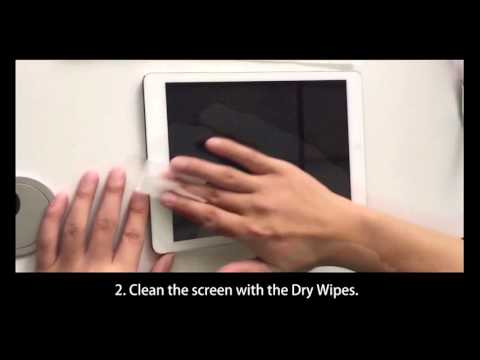 SPARIN A02: Screen Protector Installation for Large Size Tablet