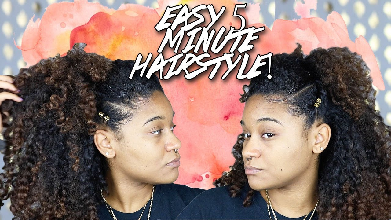 5 Minute Hairstyle for Natural Curly Hair   YouTube