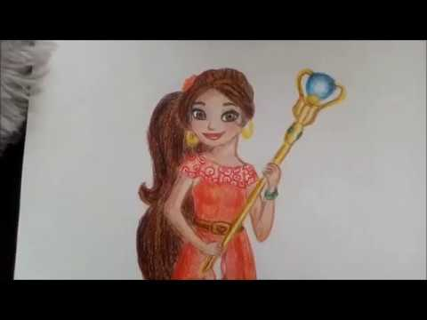 Prenses Elena çizimi How To Draw Princess Elena Youtube