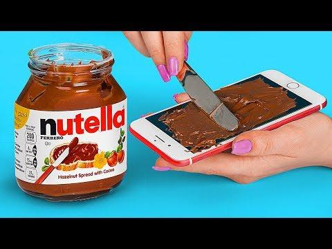 Nutella Vs Oreo Food Challenge! / 18 Simple Tricks And Ideas With Nutella