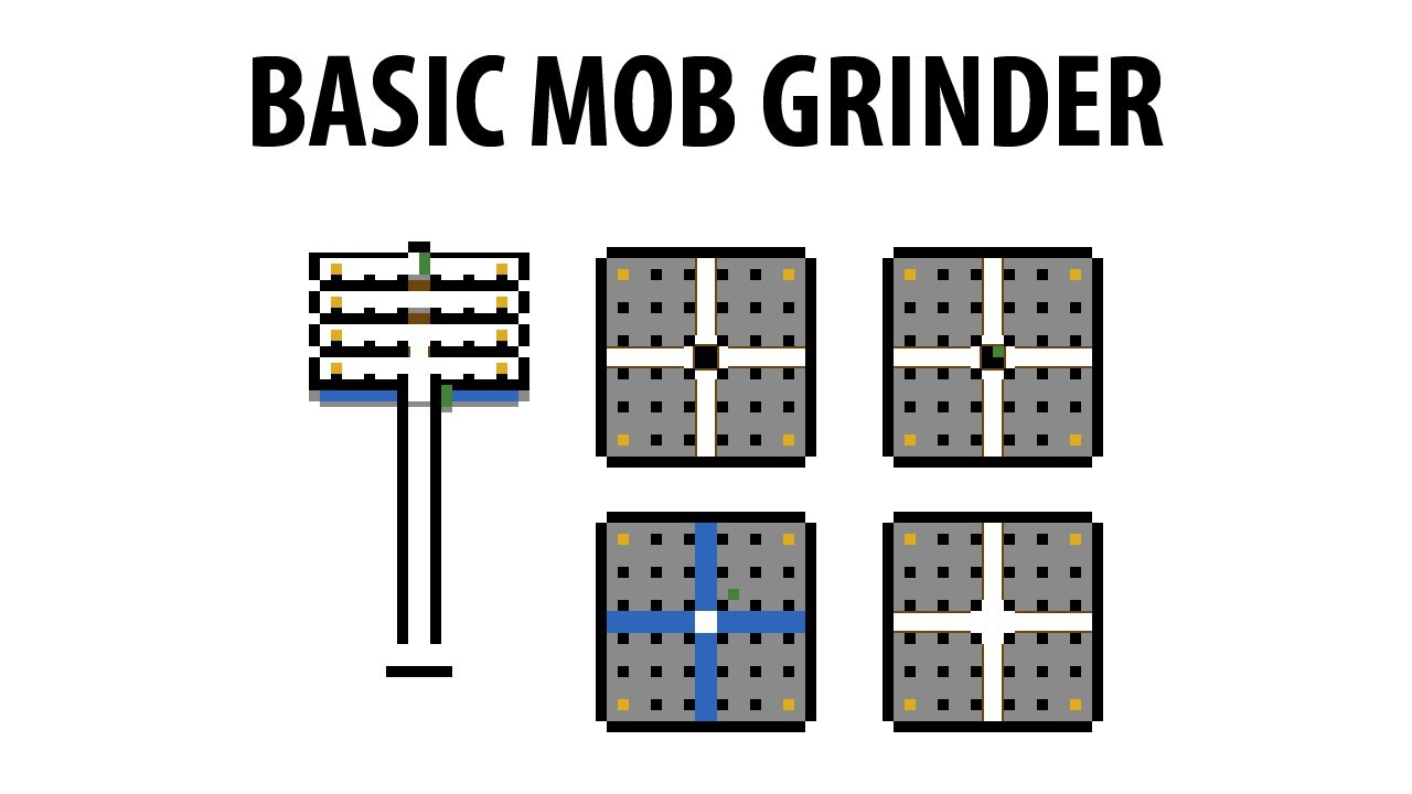 A Mo Bb Minecraft Mtandis Mob Grinder Tutorial Youtube