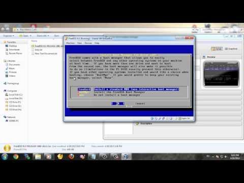 Instalare FreeBSD 8.3 pe VirtualBox în câţiva paşi