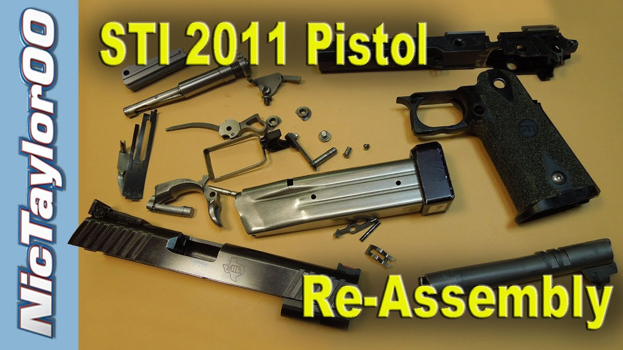 STI 2011 Competition Pistol Re-assembly Instructions - Competition Shooting  Pistol