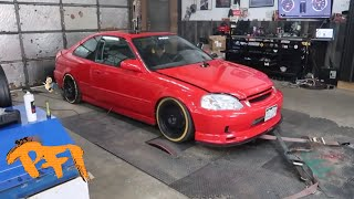 The Perfect Street K powered Civic! And Shawn starts Buggin!