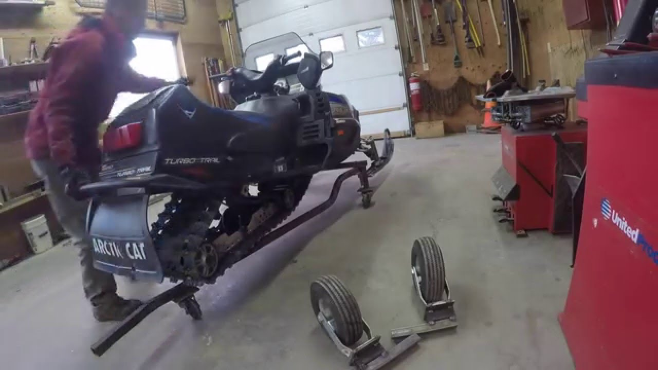 Homemade Snowmobile Dolly Part 2 Youtube