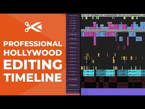 How Professional Hollywood Editors Set Up a Timeline - Video Editing Tutorial
