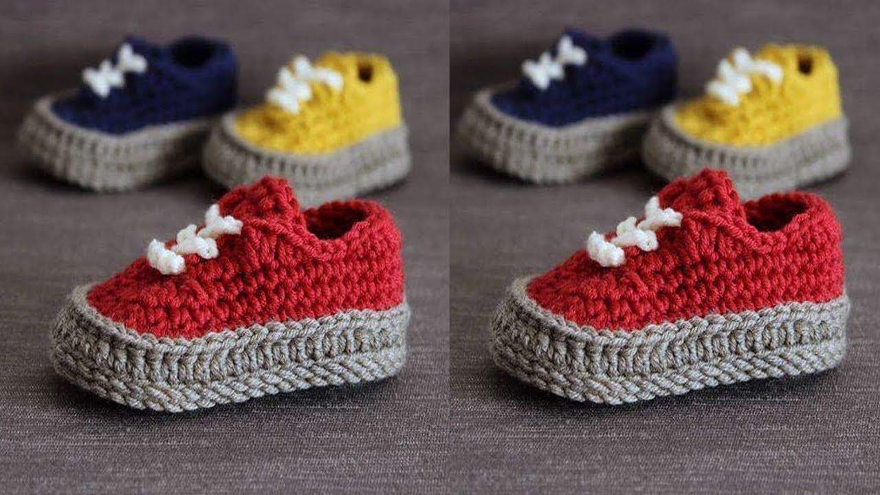 Como hacer zapatitos de bebe