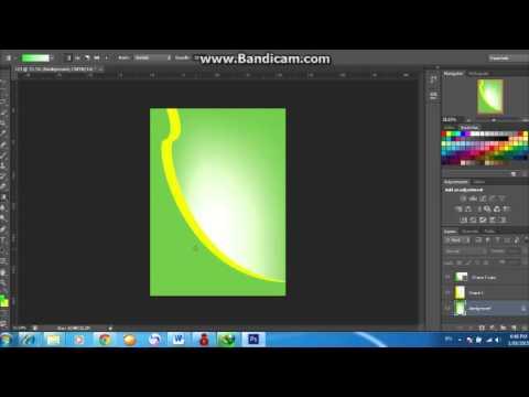 สอนทำปกรายงาน ด้วยโปรแกรม photoshop  EP.1