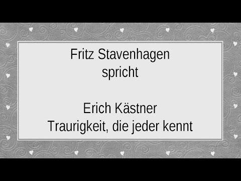 """Erich Kästner """"Traurigkeit, die jeder kennt"""""""