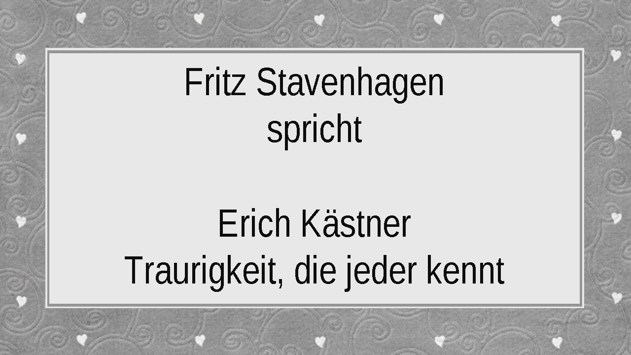erich kstner traurigkeit die jeder kennt - Erich Kastner Lebenslauf