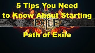 5 Tips for Beginning Path of Exile Players