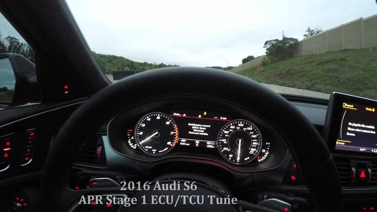 93 Octane Gas >> 2016 Audi S6: APR Stage 1 ECU/TCU Tune - YouTube