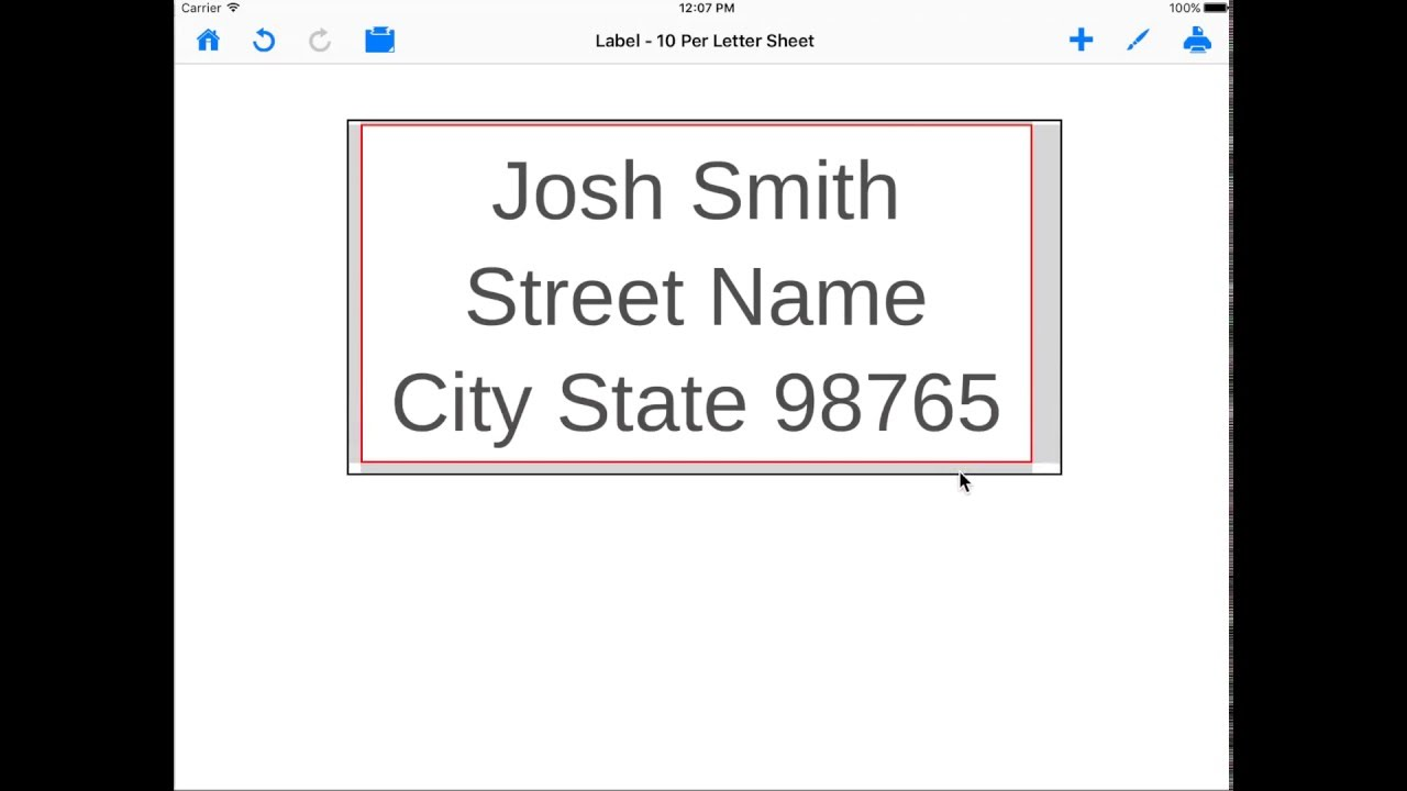 Make and print labels on ipad how to select label template using make and print labels on ipad how to select label template using mailing label designer maxwellsz