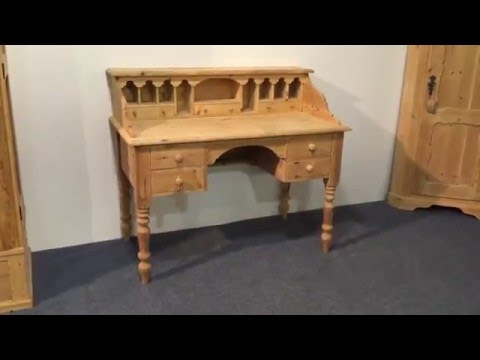 Reclaimed pine writing desk - Pinefinders Old Pine Furniture