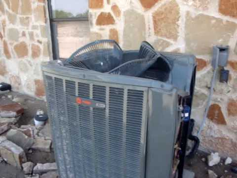1964 Trane 2 Ton Central Air Conditioner Running In 90
