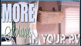 How to CREATE more STORAGE in your RV |  EASY Organizing Hack