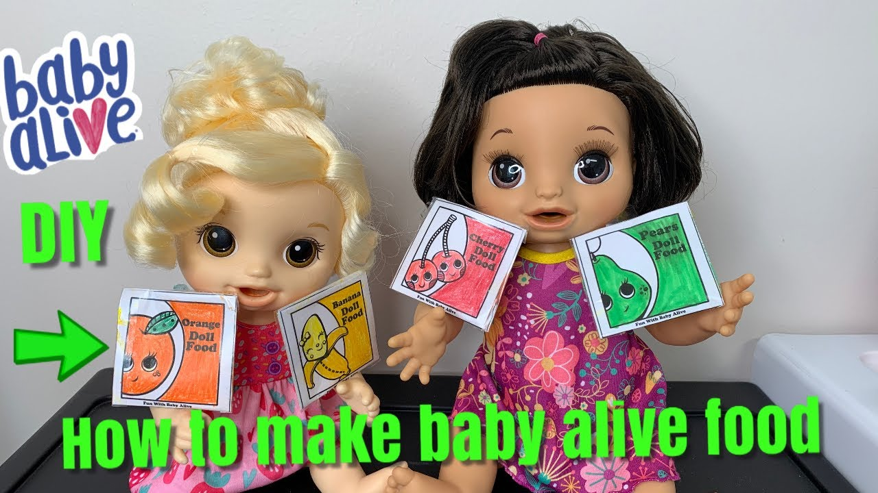 How To Make Baby Alive Food Diy Doll Food Youtube
