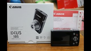 Canon ixus 185 unboxing and testing