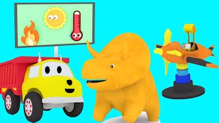 Learn with Tiny Trucks, Dino the Dinosaur and Ethan the Dump Truck| Educational cartoon for children