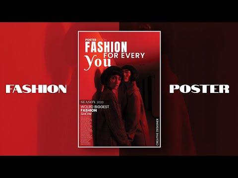Fashion Poster design  Adobe illustrator CC 2020