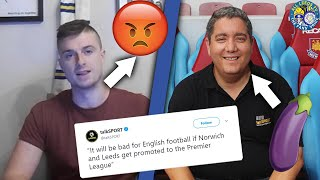 'LEEDS AND NORWICH BAD FOR THE PREMIER LEAGUE' | Conor Responds To 'Moose'
