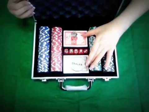 Видео Покерный набор 200 фишек