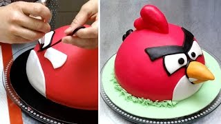 ANGRY BIRDS CAKE - How To Make by CakesStepbyStep