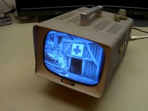 """Rocket 8HL 8"""" BW television made by Egawadenki Kenkyusho in Japan"""