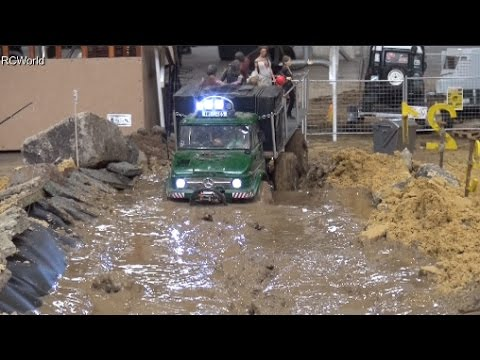 RC Off Road Course in Mud 4x4 Jeep Land Rover Trucks Ural ♦ Erlebniswelt Modellbau Kassel 2016