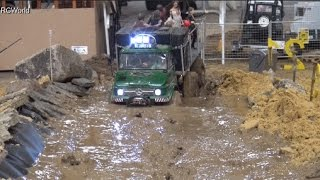 RC Off Road Course in Mud 4x4 Jeep Land Rover Trucks Ural ♦ Erlebniswelt Modellbau Kassel 2016(http://www.rc-world.org/ RC Off Road Cars on the track of the