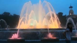 Поющие фонтаны Испания г  Барселона! удивительно красивое видео(Видео не монтированное (в оригинале), 2014-06-12T17:58:37.000Z)