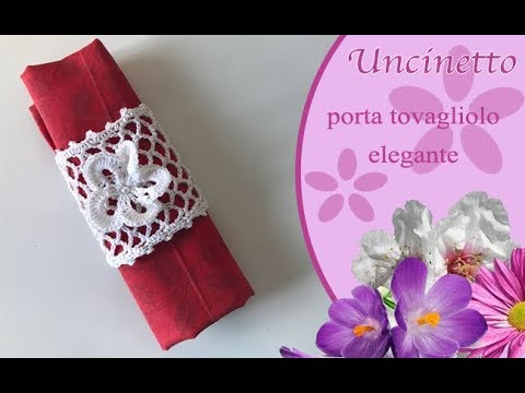 Uncinetto Porta Tovagliolo Elegante How To Do Candle Holder Napkin