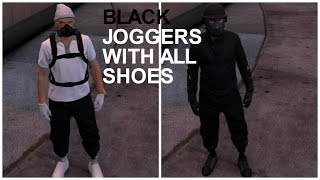 GTA 5 - Best Black Joggers Glitch With All Good Shoes! XBOX 360/PS3