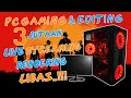- RAKIT PC BARU 3 JT + MONITOR EDITING DAN GAMING BISA SEMUA