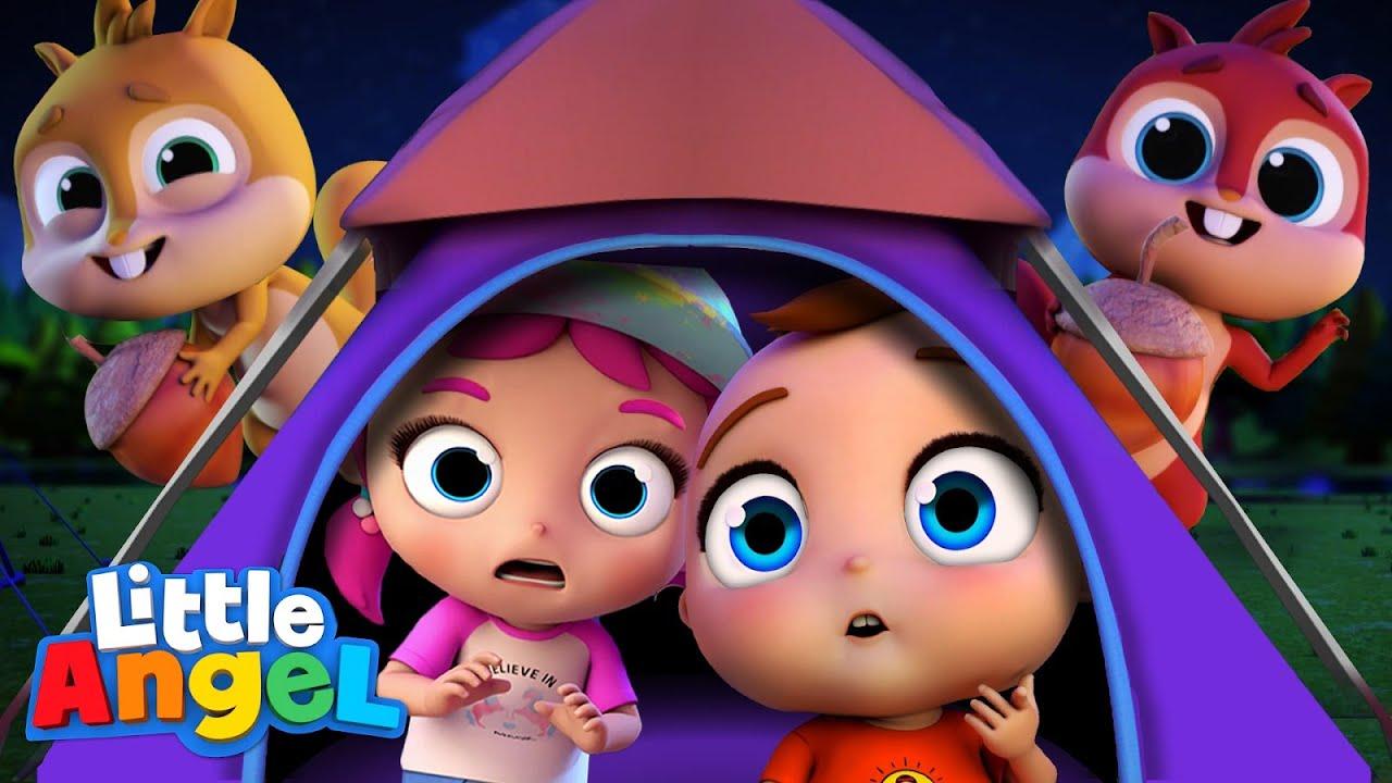 Camping Song | Little Angel Kids Songs & Nursery Rhymes