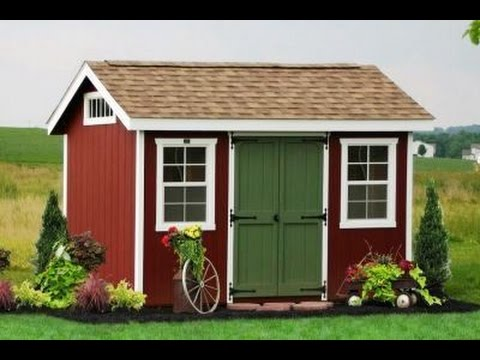 8x12 Gable Storage Shed Plans Blueprints YouTube – Garden Shed Plans 8X12