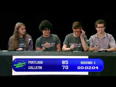 Academic Bowl 2017 | Game 6 | Portland vs Gallatin