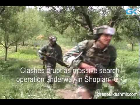 Clashes erupt as massive search operation underway in Shopian